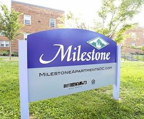 Community Signage, Milestone Apartments