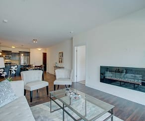 Living Room, The View at Towne Center Luxury Apartments