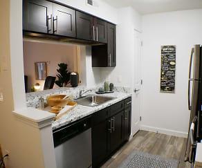 Kitchen, Hilltop Apartments