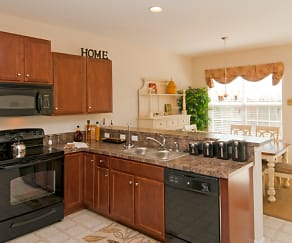 Kitchen, Emerald Pointe Townhomes