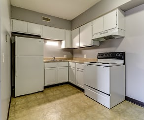 Kitchen, Crestwood Apartments