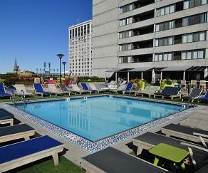 Pool, Detroit City Apartments