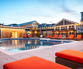 Pool, Elevation Apartments at Crown Colony