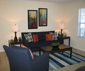 Living Room, The Ledges Apartments