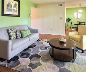 Living Room, Woodmere Trace Apartment Homes