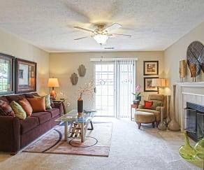 Living Room, Eagle Ridge Apartments