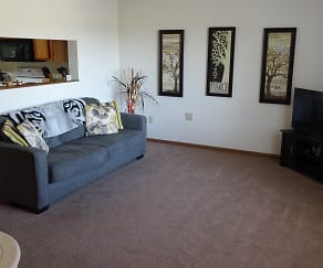 Living Room, Colorado Park Apartments