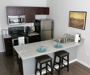 Kitchen, The Ridge Student Townhomes