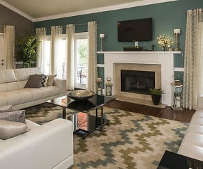 Lounge Area with Fireplace, Landmark at Lyncrest Reserve Apartment Homes