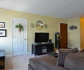 Living Room, Plymouthtowne Apartments