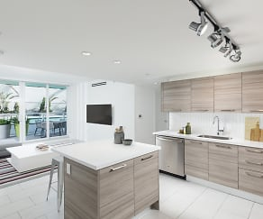 Open concept kitchen with premium finishes, Bay Parc