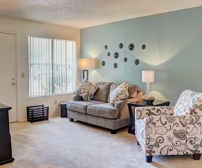 Living Room, Woodridge Apartments