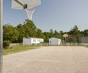 Basketball Court, Taylors Creek Mobile Home Community