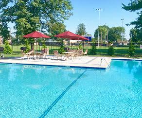Pool, Carlton Apartments