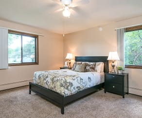 Bedroom, Willoway Apartments