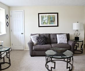 Living Room, Maple Grove Apartments