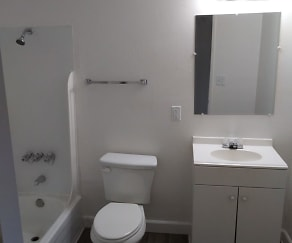 Bathroom, Orange Grove Apartments