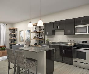 Kitchen, Loftin at Montcross Senior Apartments