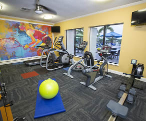 Get an invigorating workout in at our 24-hour fitness center., Amber Lakes