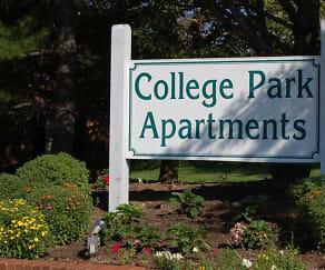 Community Signage, College Park Apartments