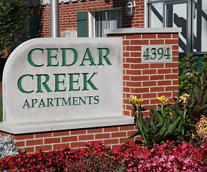 Community Signage, Cedar Creek Apartments