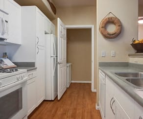 Galley Style Kitchen with Laundry Room just steps away, Rivers Edge