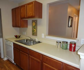 Kitchen, Village Crossing Apartments