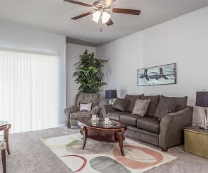 Living Room, Carman Estates Apartments