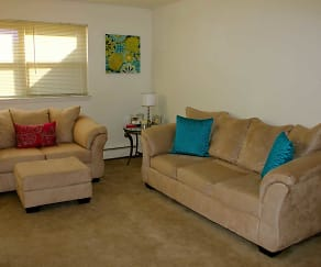 Living Room, Newport Village Apartments