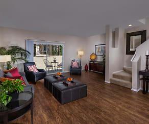 Living Room, Jamboree Townhomes