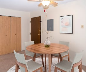 Dining Room, Valley Park Apartments
