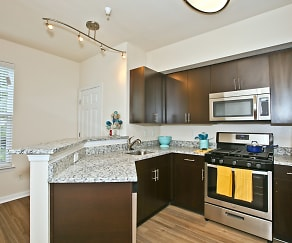 Renovated Kitchens featuring Stainless Steel Smart Appliances, Broadlands Apartments