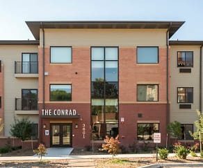 Our entrance is on Jones Street, where you can swing by for a personal tour., The Conrad