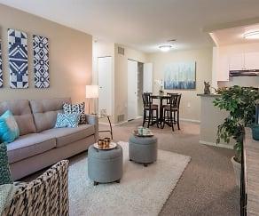 Living Room, Arbor Club Apartments