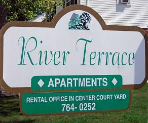 Community Signage, River Terrace Apartments