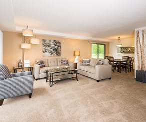 Living Room, Fox Forest Townhomes