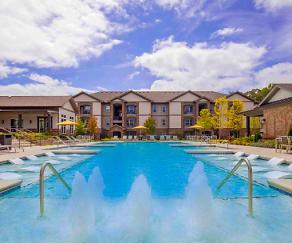 Pool, One White Oak Apartments