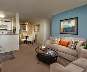 Living Room, Terra Vista Apartments & Townhomes