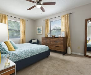 Bedroom, Edgewater Village Apartments