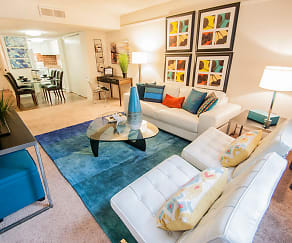 Living Room, Lake Towers Apartments