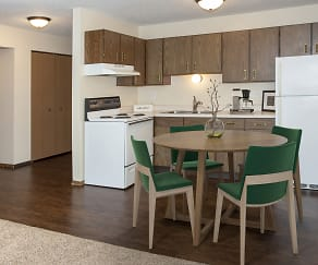 Kitchen, Landmark Estate Apartments