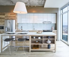 Kitchen, Two Light Luxury Apartments