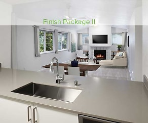 Finish Package II kitchen, living and dining areas, eaves Redmond Campus