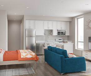 Living Room, Henley Apartments and Townhomes