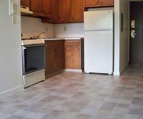 Kitchen, North Riverside Apartments