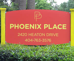 Community Signage, Phoenix Place Apartments