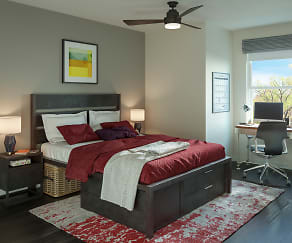 Bedroom, The Marshall Student Living