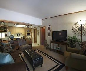 Living Room, Oakwood Park Apartments