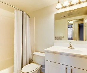Bathroom, Hallfield Apartments