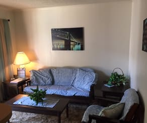Living Room, Whispering Oaks Apartments
